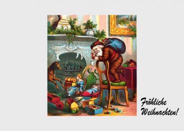 kunststelle alte weihnachtskartenmotive weihnachtsmann. Black Bedroom Furniture Sets. Home Design Ideas